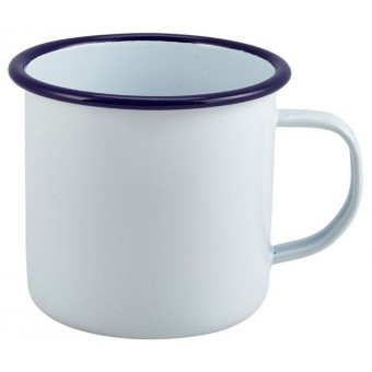 Enamel Mug White with Blue...