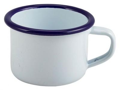 Enamel Mug White With Blue Rim...