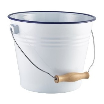Enamel Bucket White with...