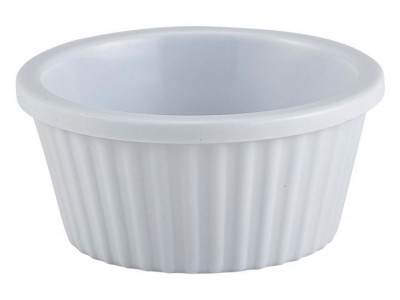 Ramekin Fluted 1oz White 57X25mm