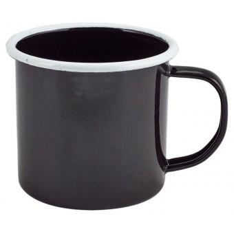 Enamel Mug Black with White...