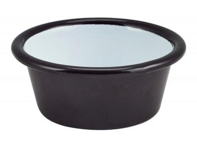 Enamel Ramekin Black 8cm Dia 90ml/3.2oz