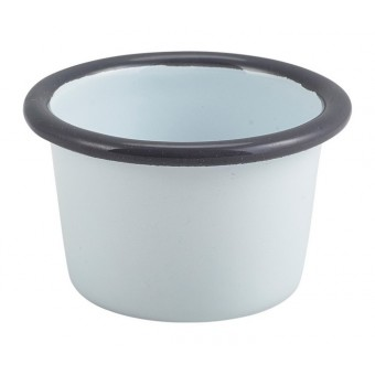 Enamel Ramekin White with...
