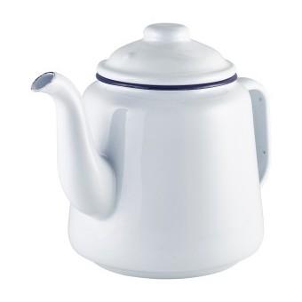 Enamel Teapot White with...