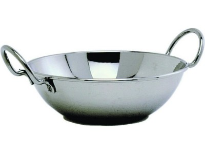 "S/St.Balti Dish 15cm(6"")With Handles"