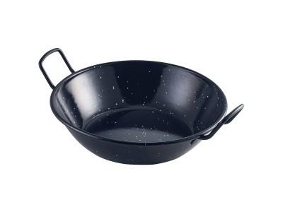 Black Enamel Dish 22cm