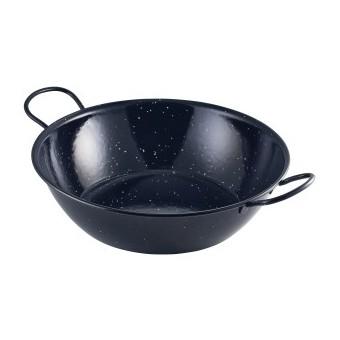 Black Enamel Dish 30cm