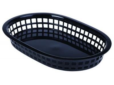 Fast Food Basket Black 27.5 x 17.5cm