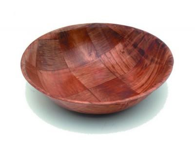 """Woven Wood Bowls 10"""" Dia"""