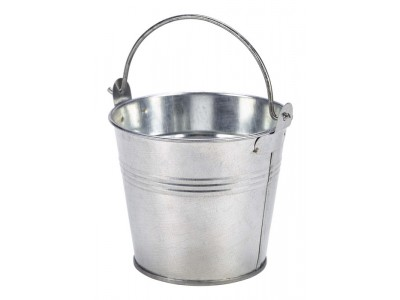 Galvanised Steel Serving Bucket 10cm Dia