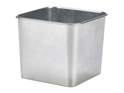 Galvanised Steel Square Tub 8 x 8 x 6cm