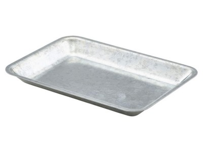 Galvanised Steel Tray 20x14x2cm