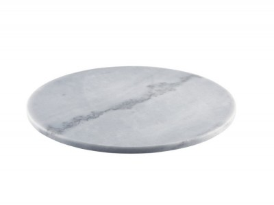 Grey Marble Platter 33cm Dia