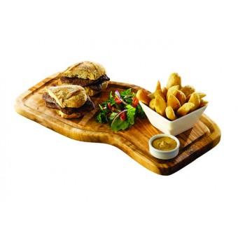 Olive Wood Serving Board W/...
