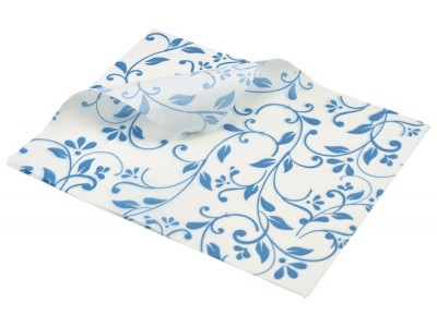 Greaseproof Paper Blue Floral Print...