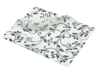 Greaseproof Paper Grey Floral Print...