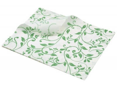 Greaseproof Paper Green Floral Print...