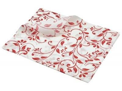 Greaseproof Paper Red Floral Print 25...