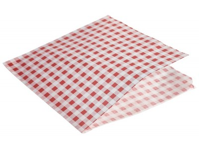 Greaseproof Paper Bags Red Gingham...