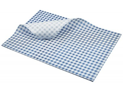 Greaseproof Paper Blue Gingham Print...