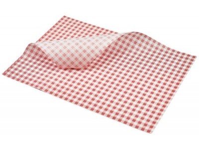 Greaseproof Paper Red Gingham Print...