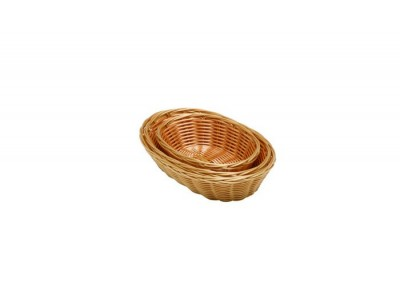 "Oval  Polywicker Basket 10""X6.5""X2.5"""