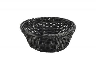Black Round Polywicker Basket 21Dia x...