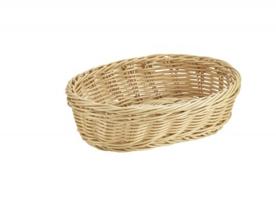 Oval Polywicker Basket 22.5 x 15.5 x...