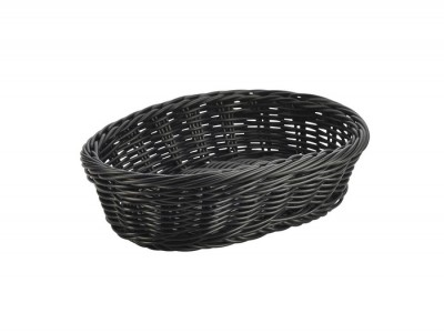 Black Oval Polywicker Basket 22.5 x...