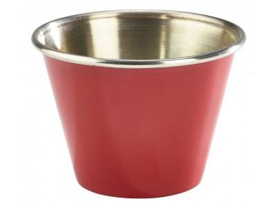 2.5oz Stainless Steel Ramekin Red