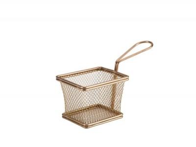 Copper Serving Fry Basket Rectangular...