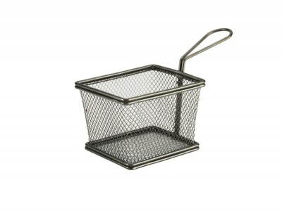 Black Serving Fry Basket Rectangular...