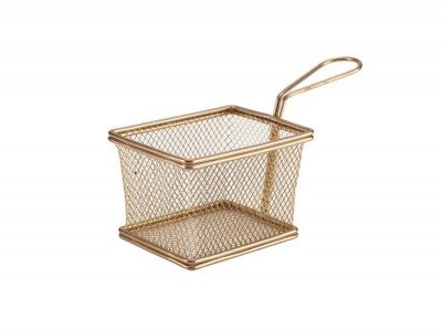 Copper Serving Fry Basket Rectangular...