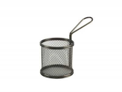 Black Serving Fry Basket  Round 9.3 x...
