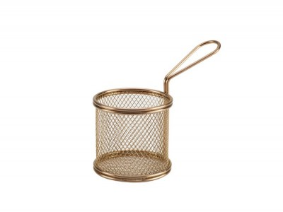 Copper Serving Fry Basket Round 9.3 x...