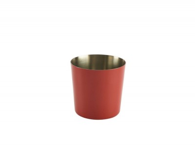 S/St. Serving Cup 8.5 x 8.5cm Red