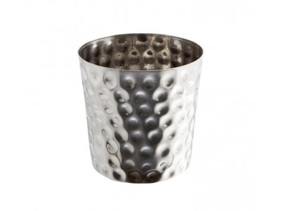 S/St. Serving Cup Hammered 8.5 x 8.5cm