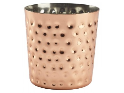 Copper Plated Serving Cup Hammered...