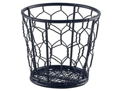 Black Wire Basket 10cm Dia
