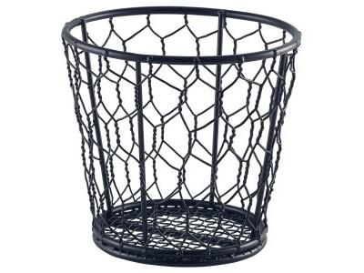 Black Wire Basket 12cm Dia