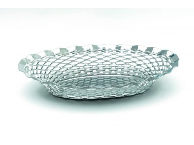 "S/St.Oval Basket 11.3/4""X9.1/4"""