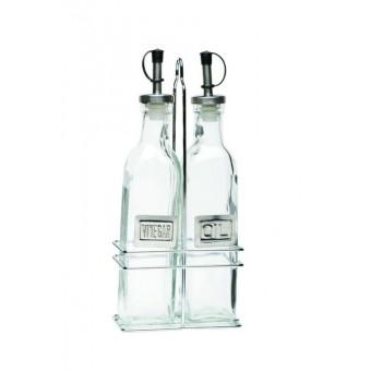 Square Glass Oil & Vinegar...