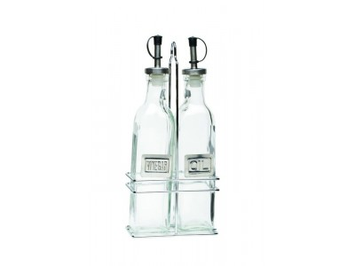 Square Glass Oil & Vinegar With...