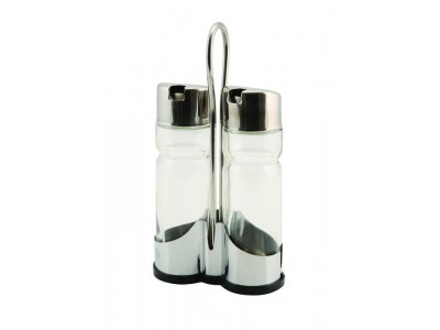 Genware Oil & Vinegar Set With Stand