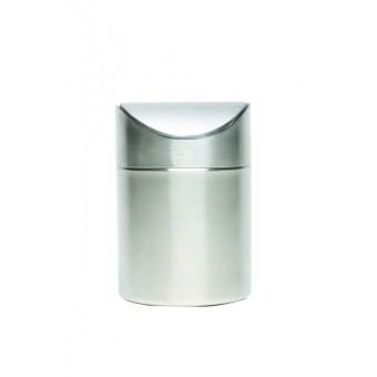 S/St Table Bin 17cm High x...