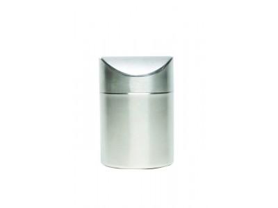 S/St Table Bin 17cm High x 11.5cm Dia
