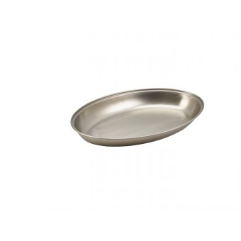"S/St.Oval Veg.Dish 10"""
