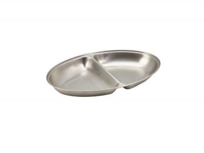 """S/St.2-Div.Oval Veg.Dish 12""""(11462)..."""