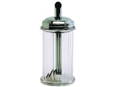 Clear Plastic Sugar Pourer With S/St.Top