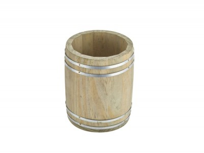 Miniature Wooden Barrel 11.5Dia x 13.5cm